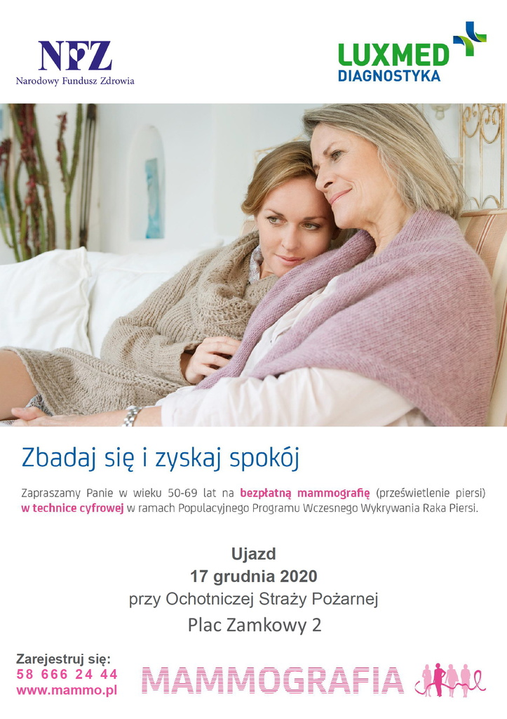LUX MED - bezpłatne badania mammograficzne w grudniu.jpeg